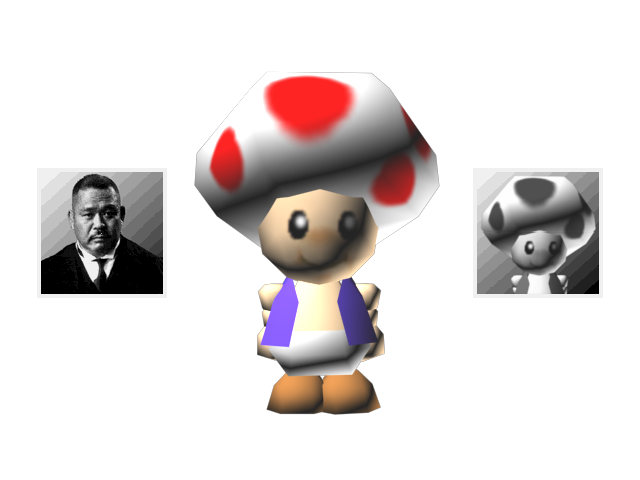 Toad Icon Goldeneye 007 With Mario Characters By