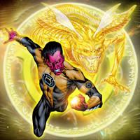 Yellow Lantern Parallax by dankalel23
