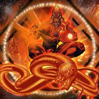 Orange Lantern Ophidian by dankalel23
