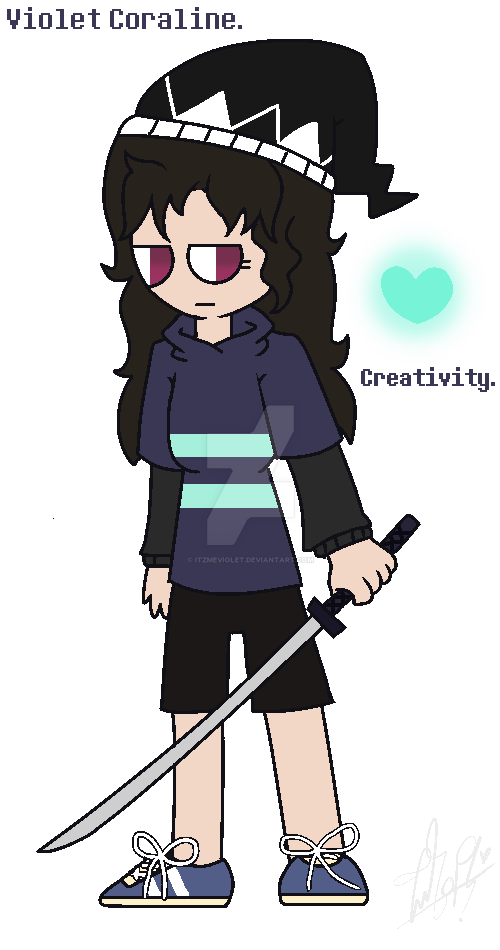 redraw my undertale persona. by ItzMeViolet
