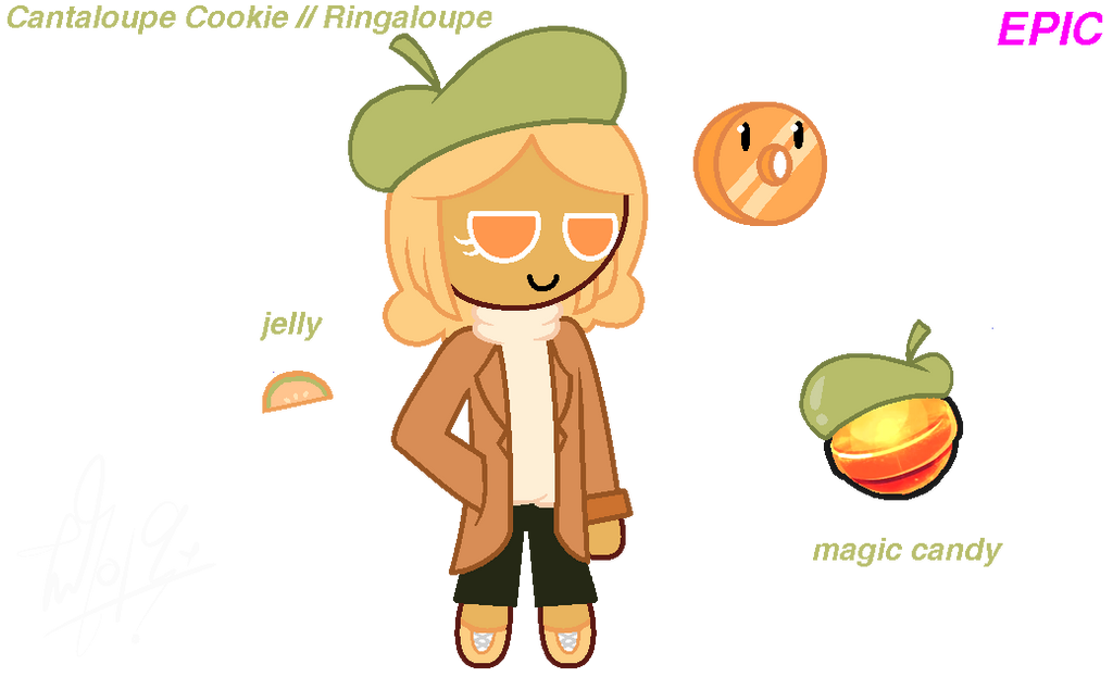 Cantaloupe Cookie by ItzMeViolet