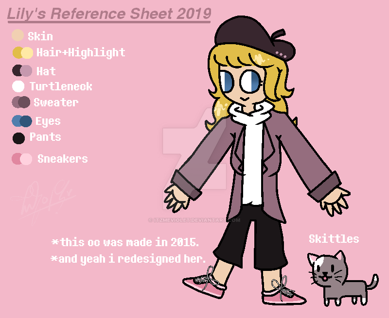 REFERENCE SHEET 2019 (Lilly) by ItzMeViolet
