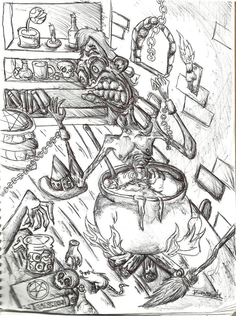 Witch Kitchen Sketch by BrAnDoNAxLMeTaLLiCa on DeviantArt