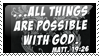 All things are possible -stamp