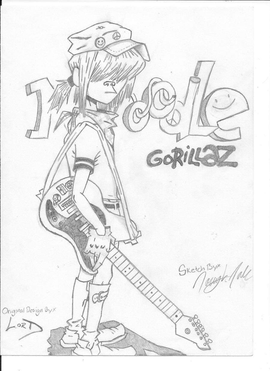 Noodle Gorillaz By CallMeRabbitz On DeviantArt