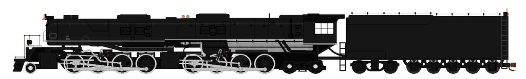 Hokkaido steam locomotive 2-8-8-4 by SenkanYamato