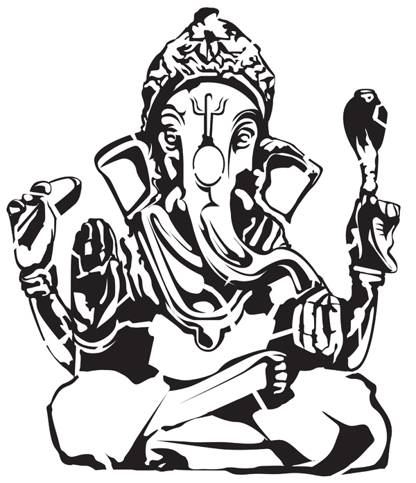 Ganesha Vector The Indian God by 5starbrand