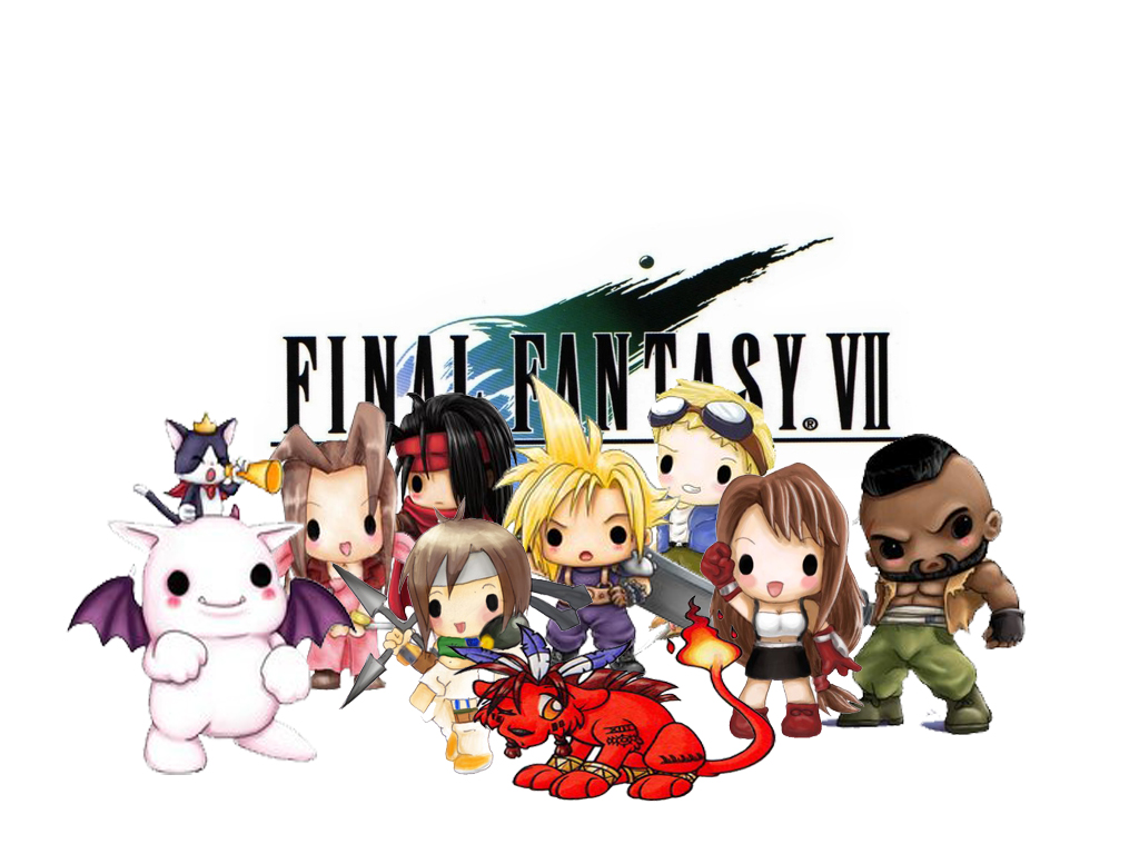 Chibi Final Fantasy VII By Agent Saren