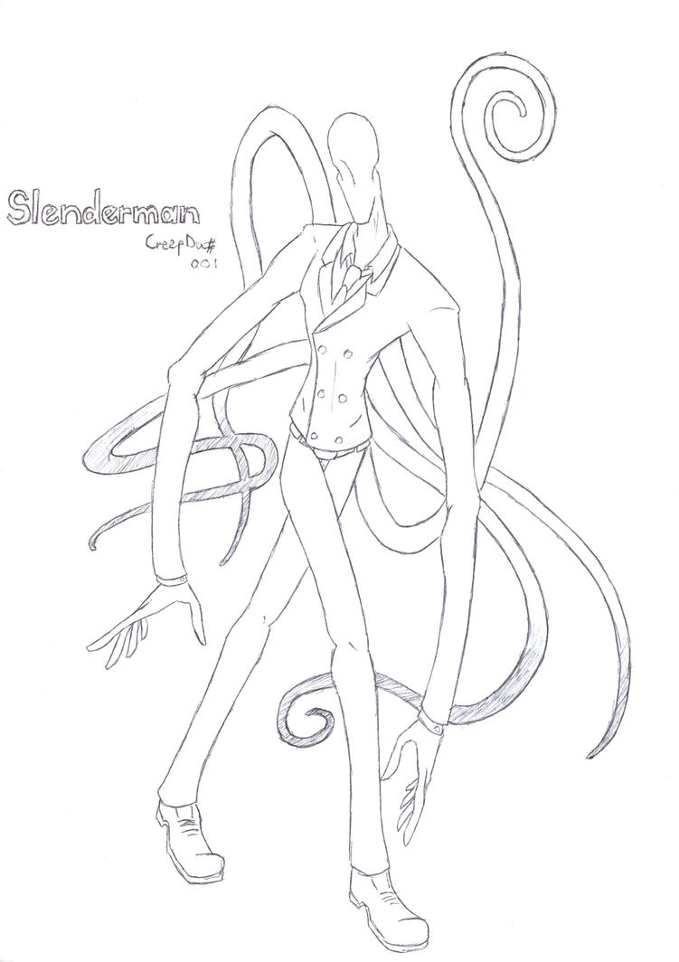 Slenderman lineart by gamegoat96 on deviantart for Slender man coloring pages