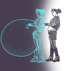 Projection Retro Emulating Gestation.