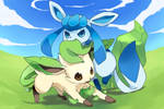 Leafeon and Glaceon