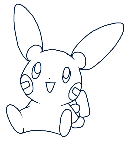 minun coloring pages - photo#25