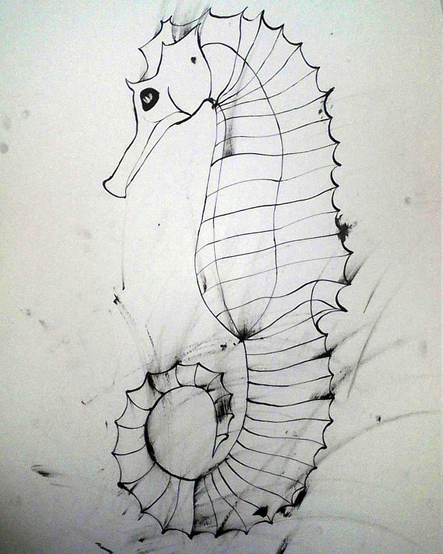 Inky Seahorse by theonlywhitewolf