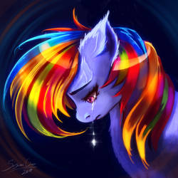 The rainbow dash is weeping