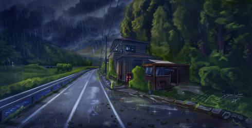 A lonely house by SASHlMlSAN
