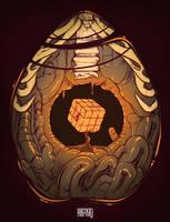 Cube, inside my body by hartvig-art18