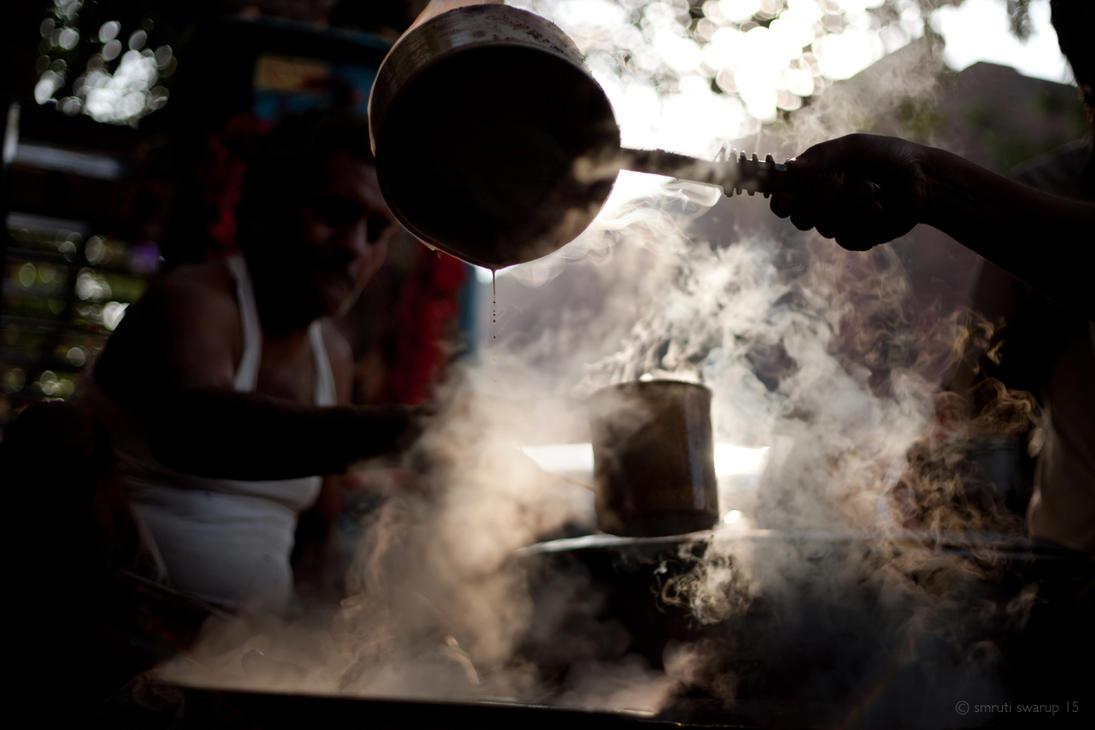 Steaming hot tea at Badabazar by khurafati
