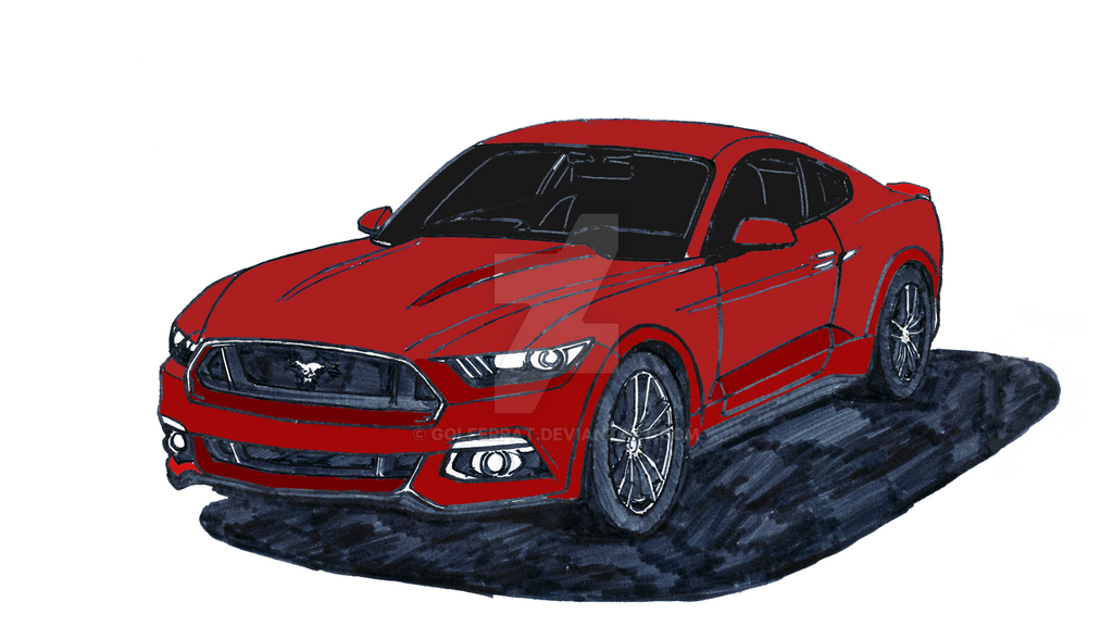 2015 ford mustang gt how to draw step by step by. Black Bedroom Furniture Sets. Home Design Ideas