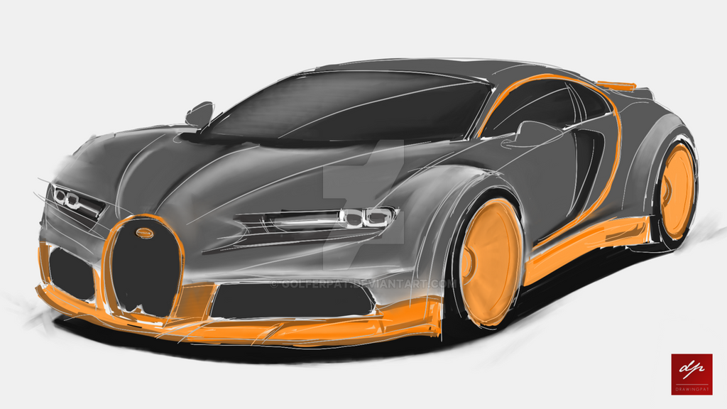 Sketch Of A Bugatti Chiron Super Sport By Golferpat On DeviantArt