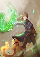 Of The PokeSpe: Green Okido by PrismaticStardust