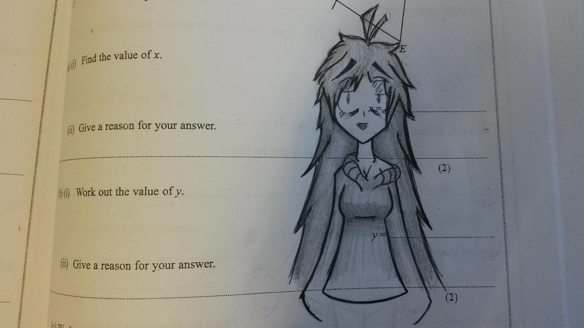 Girl I Drew In My Maths Book by ShroomBot on DeviantArt