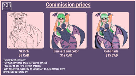 My commission prices