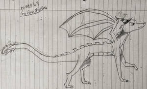 My dragon oc not colored