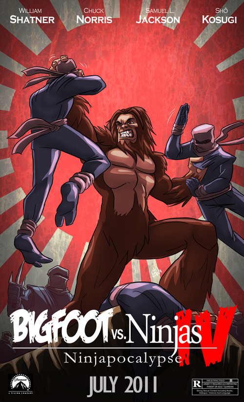 BigFoot vs Ninjas Commission by EryckWebbGraphics