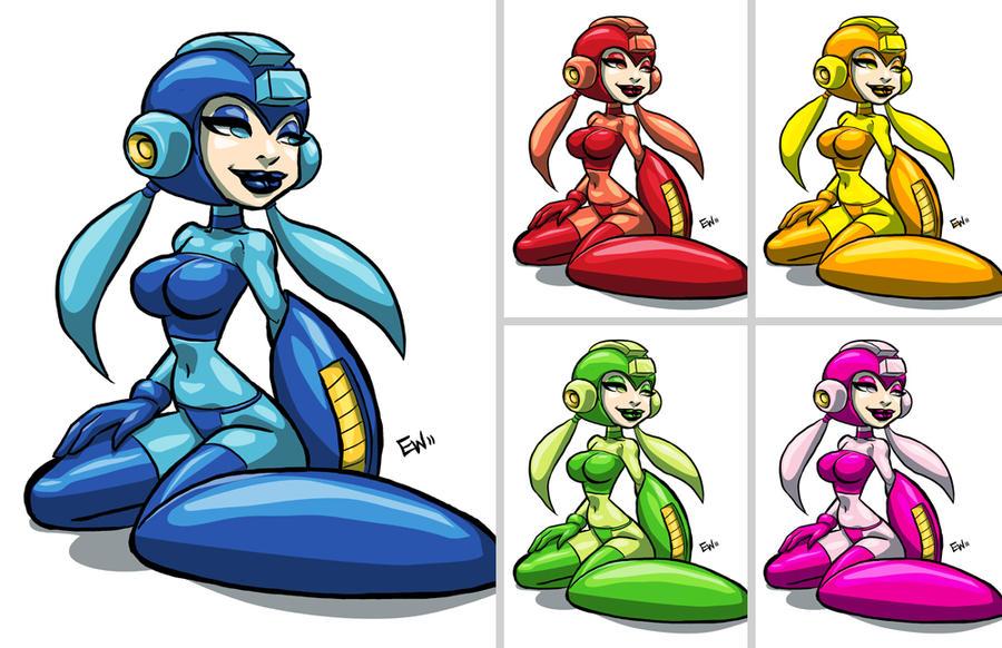 Mega Chik Rainbow by EryckWebbGraphics