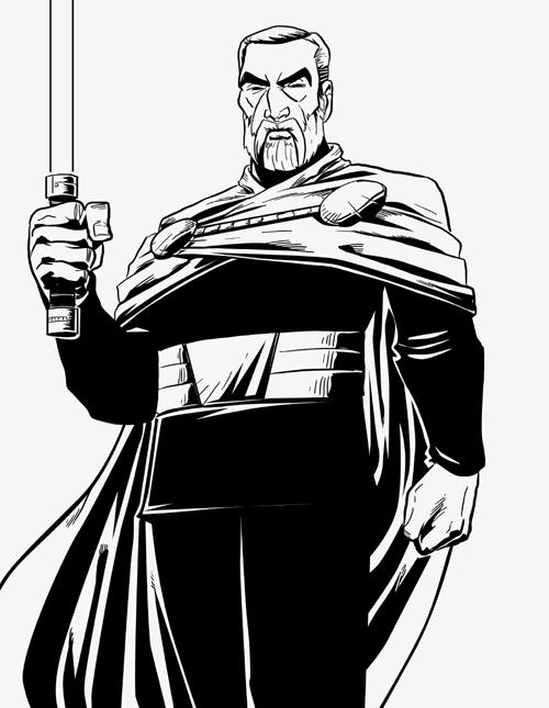 Count Dooku - Inks by EryckWebbGraphics