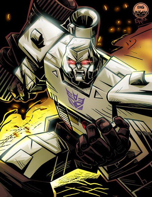 Transformers G1 Megatron - Fin Commission by EryckWebbGraphics