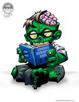 Zombie Reader - Commission by EryckWebbGraphics