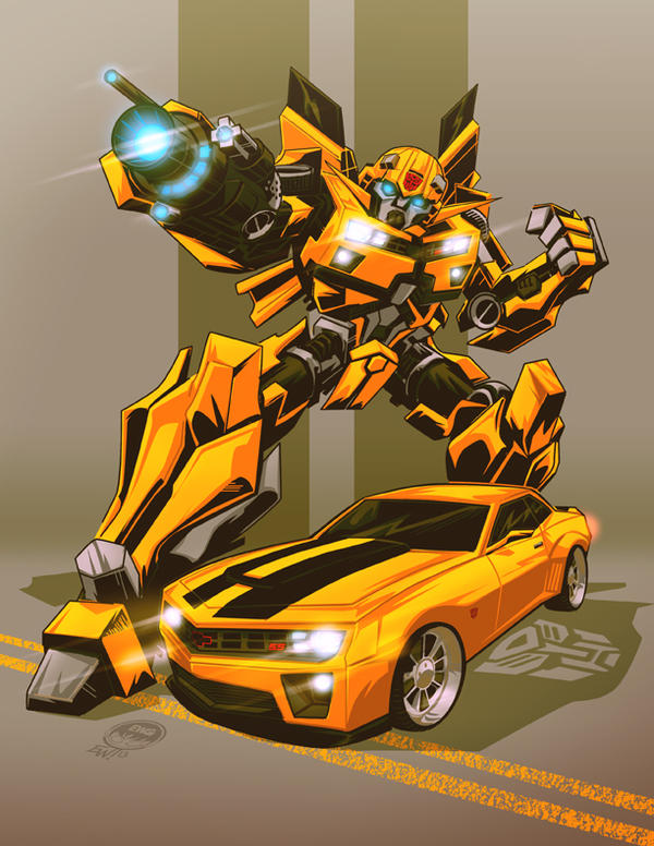 Transformers Bumblebee and Camaro - Commission by EryckWebbGraphics