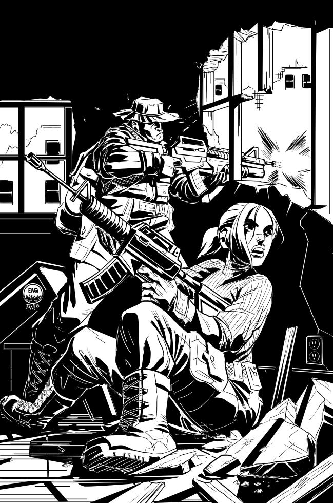 Odessa Incident - Inks by EryckWebbGraphics