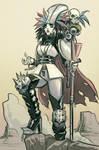 Post Apocalyptic Warrior Queen - Slot Commish