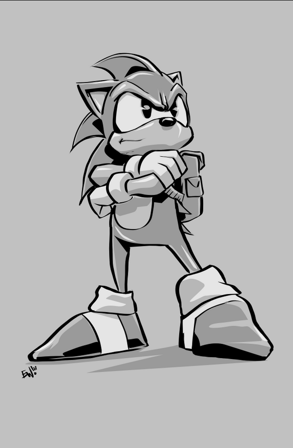 Sonic The Hedgehog - Warmup 6-10-14 by EryckWebbGraphics