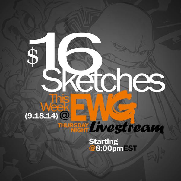 $16 Dollar Sketches This Thursday by EryckWebbGraphics