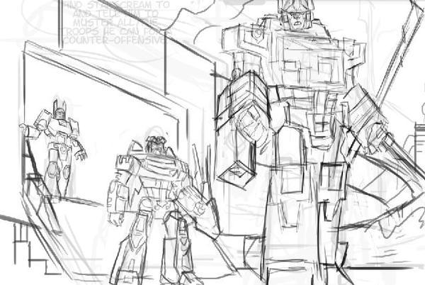 Transformers pencils in progress by EryckWebbGraphics