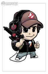 Ecto Chibi - Live Sketch Night Commish by EryckWebbGraphics