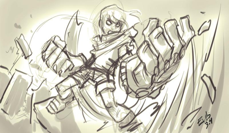 Gully -BCreturns fanart sketch by EryckWebbGraphics