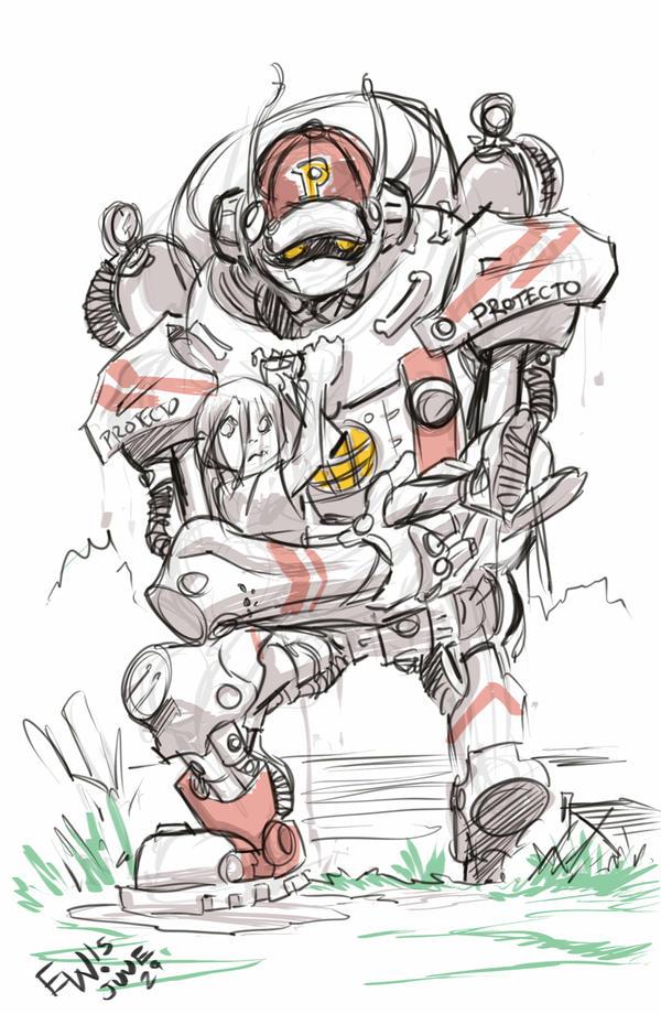 Protecto - Rough Sketch by EryckWebbGraphics