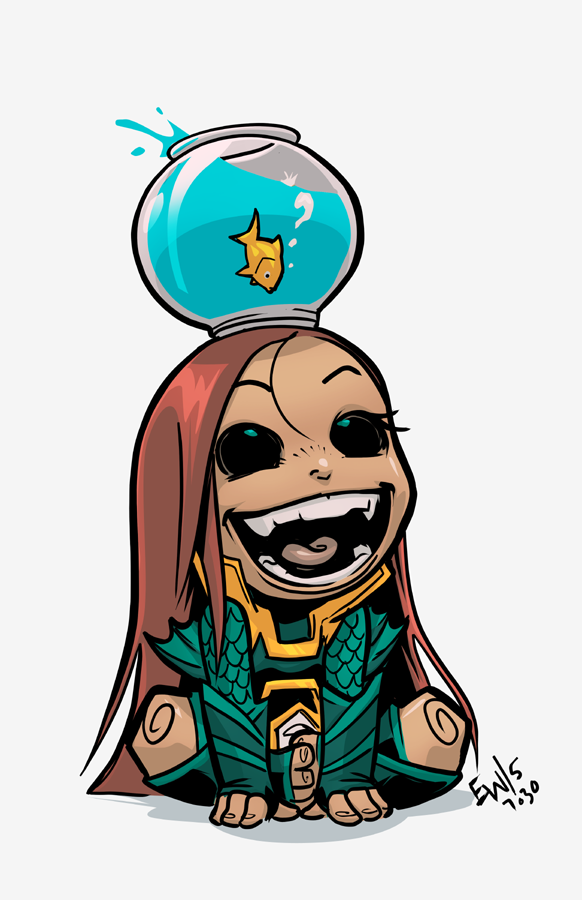 Fathom chibi - july sale commish by EryckWebbGraphics