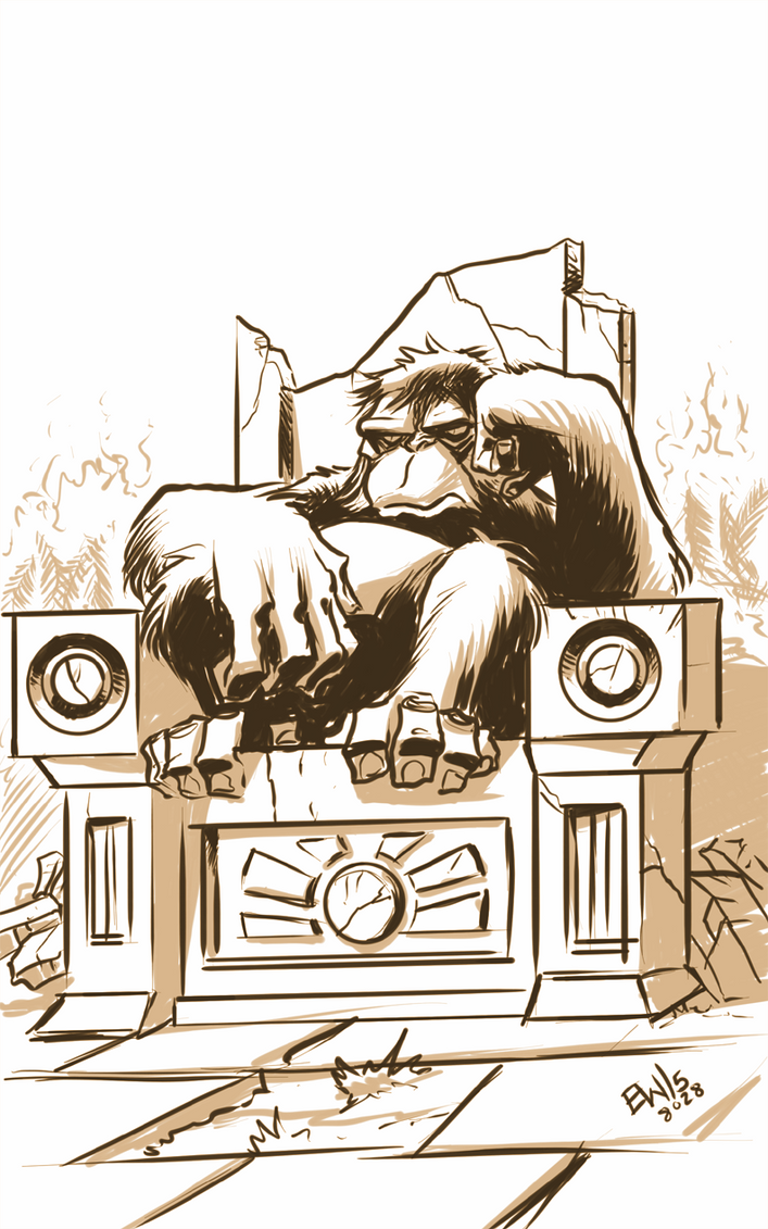 King Louie - Sketch Dailies Warmup by EryckWebbGraphics