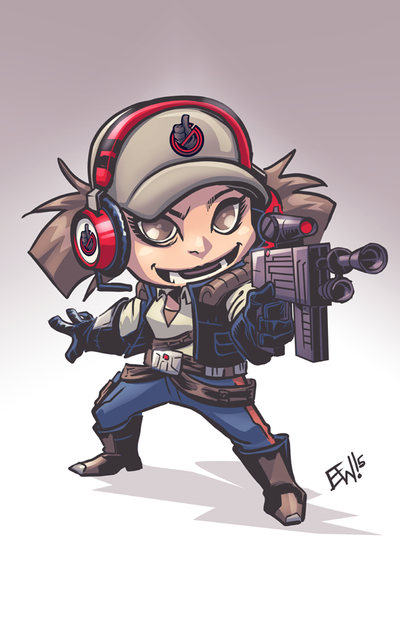 Taryn Smuggler - Star Wars - July Sale Chibi by EryckWebbGraphics