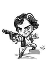 Han Solo Chibi - sketch commission by EryckWebbGraphics
