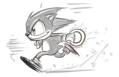 Run Sonic Run - DRS Warmup by EryckWebbGraphics