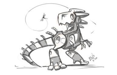 Robo Dinos New Friend by EryckWebbGraphics