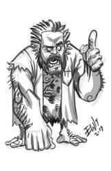 Proffessor Caveman by EryckWebbGraphics
