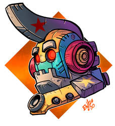 Star Robot - Practice Inks and Colors