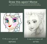Elsa-Frozen: Draw This Again Meme